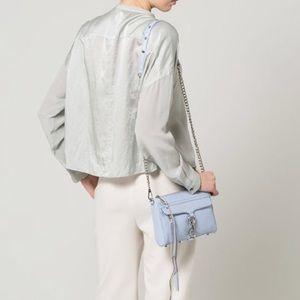 Rebecca Minkoff Mini Mac M.A.C Bag in Soft Blue